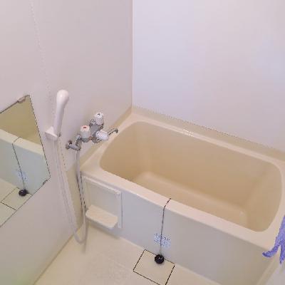 お風呂はコンパクトにまとまっています。