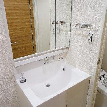 洗面台も使いやすいです!