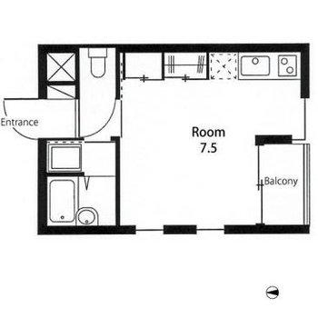 7.5畳のお部屋です!