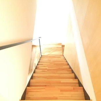 中に階段があるとワクワクしますね!