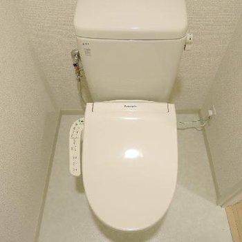 清潔感あるトイレ。