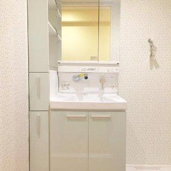 清潔な独立洗面台。