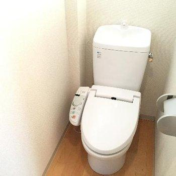 トイレは清潔感のある綺麗な感じになっていました!