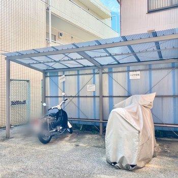 バイクも置くことができますよ。