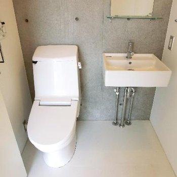 トイレは脱衣場に併設です。