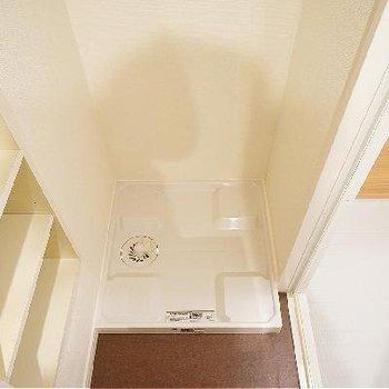 洗濯機がお風呂の前で動線も◎