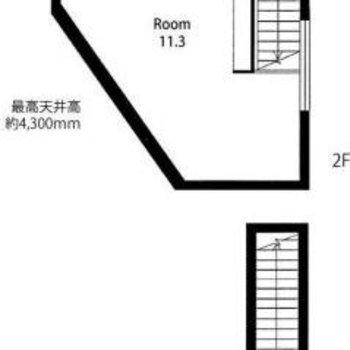 台形のお部屋です。