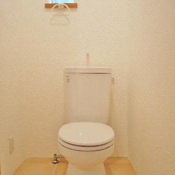 ほんとに小さいけど明り取りがあるトイレ。