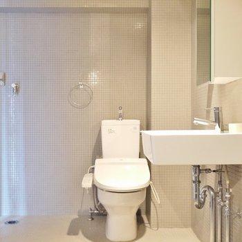 トイレの横は、洗濯置き場。