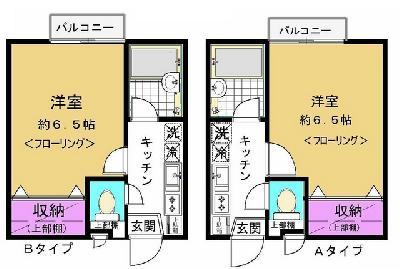 竹ノ塚14分アパート の間取り