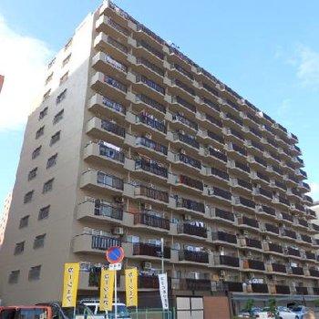 15階建ての非常に大きなマンションです。