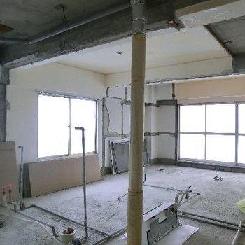 工事が始まっているお部屋がこちら。あなたが内装をえらべる!!