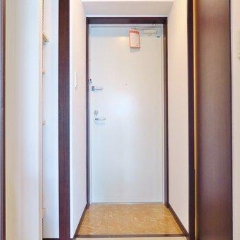 玄関周りも収納がありますね。