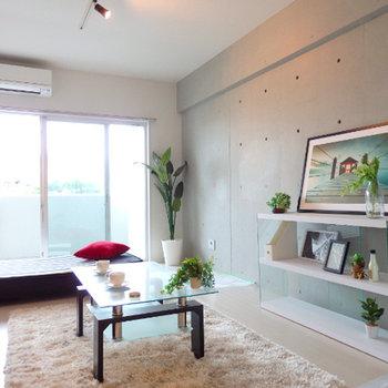 こういうモダンスタンダードな家具が似合いますね※写真は別部屋