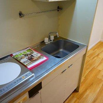 キッチンはIH1口ですがゆったりサイズなのがうれしい!