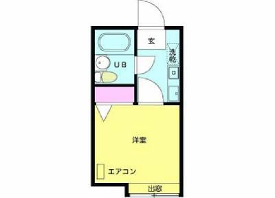 篠崎16分アパート の間取り