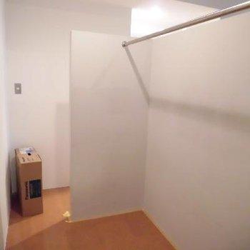 もう一つの壁はクローゼットでした!*クリーニング中です