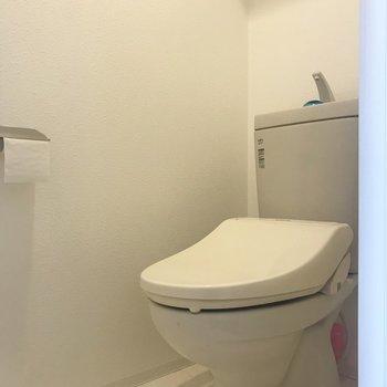 トイレでした!