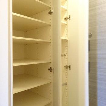 玄関収納たくさんあります ※写真は別部屋です