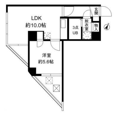 FUKASAWA614マンション の間取り