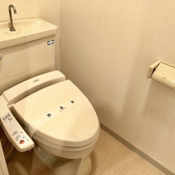 落ち着く広さ。ウォシュレット付きトイレ!