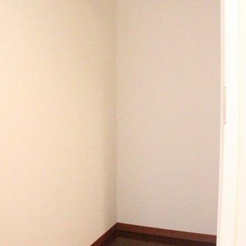 小さな部屋のようですが、シューズインクローゼットです