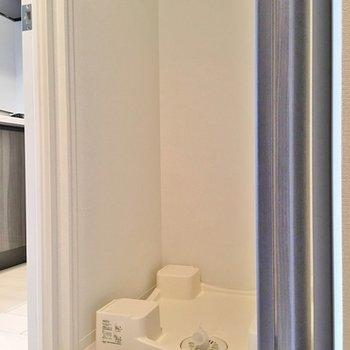 扉付きの洗濯機置き場あり!※写真は403号室