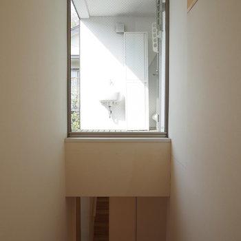 階段の上から見えるこの部分