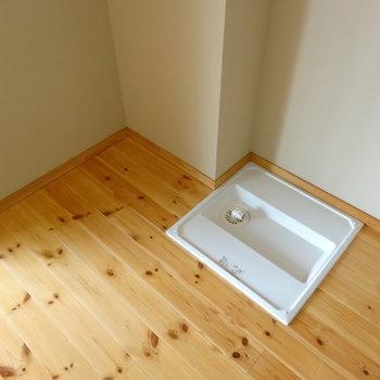 洗濯機と冷蔵庫は隣り合わせかな※写真は2階の反転間取り別部屋のものです