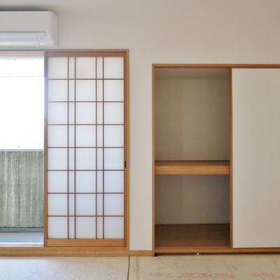 和室は広々。※畳は、入居者確定後いれます。