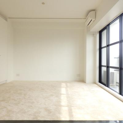 内装は白、ふわふわしたカーペットです!