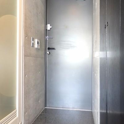 厳重な玄関、カッコ良い!