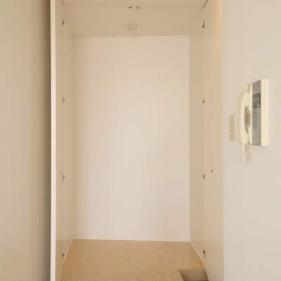 玄関スペース、こちらも広い収納