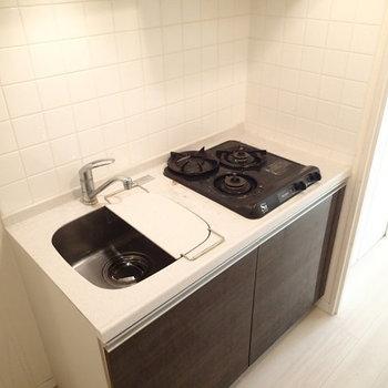 調理スペースも拡張できーる。※写真は2階の同間取り別部屋