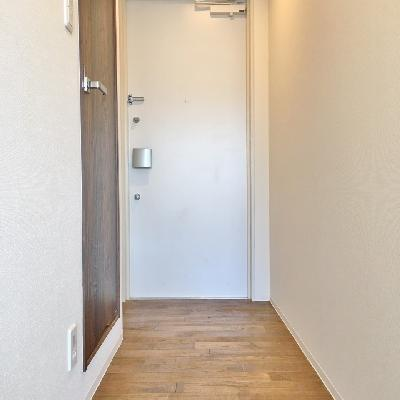 玄関には段差がありません。マットを敷きましょうか。