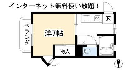 リバ-サイド松ヶ崎 の間取り