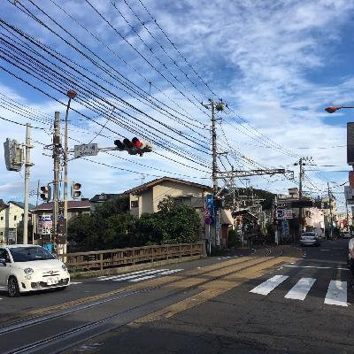 小さなお店やひらけた道路、鎌倉のこの雰囲気、好きだなあ