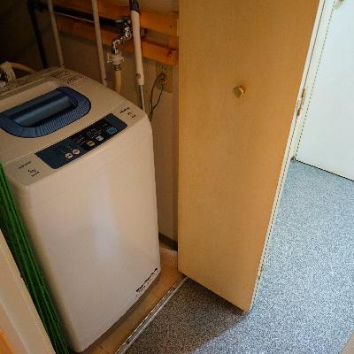 洗濯機置き場が脱衣所にあるのが◎