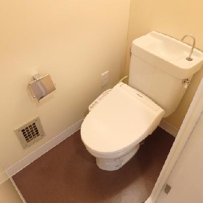 トイレは昔ながらの雰囲気が残りますが、ウォシュレットを新たに設置
