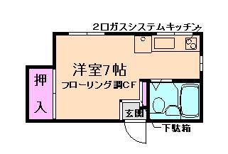 桜井7分マンション の間取り