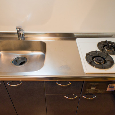キッチンは2口ガスコンロ