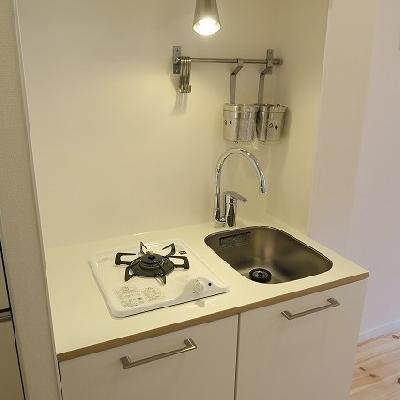 キッチンは1口ガスコンロ!※写真はイメージです。