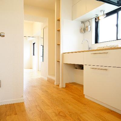 玄関から、キッチンがお出迎え♪※写真は別部屋