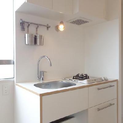 オリジナルのキッチンは2口ガス