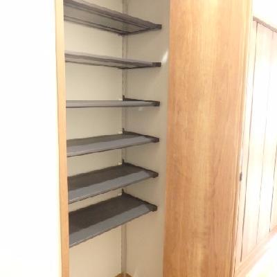 靴の収納スペースもあります