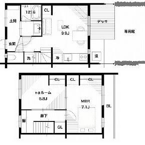 2階建てのテラスハウス!
