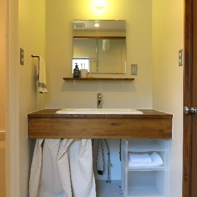 洗面台が広いのも嬉しいですね!