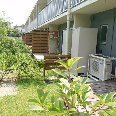 青々と茂る緑が素敵な専用庭!