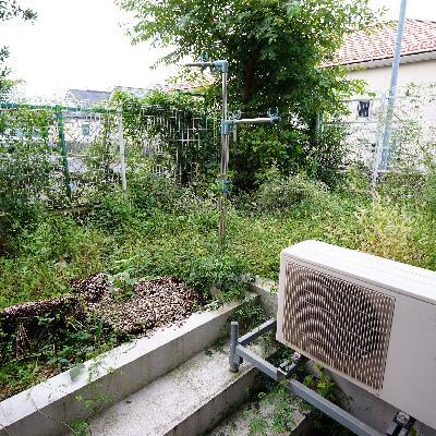 庭空間も用意してます!