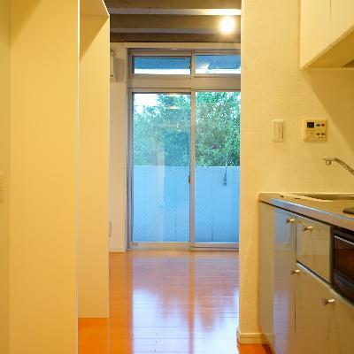 キッチンまでも空間を共有してます!